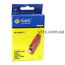 Картридж Canon BCI-6Y, (NC-00006Y), yellow, G&G
