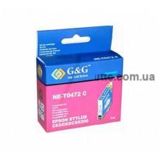 Картридж Epson St. C63, (T047240/NE-0T472), cyan, G&G