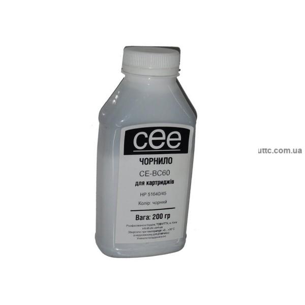 Чернила HP 51640/45, (CE-BC60), 200 г, pigment black, CEE