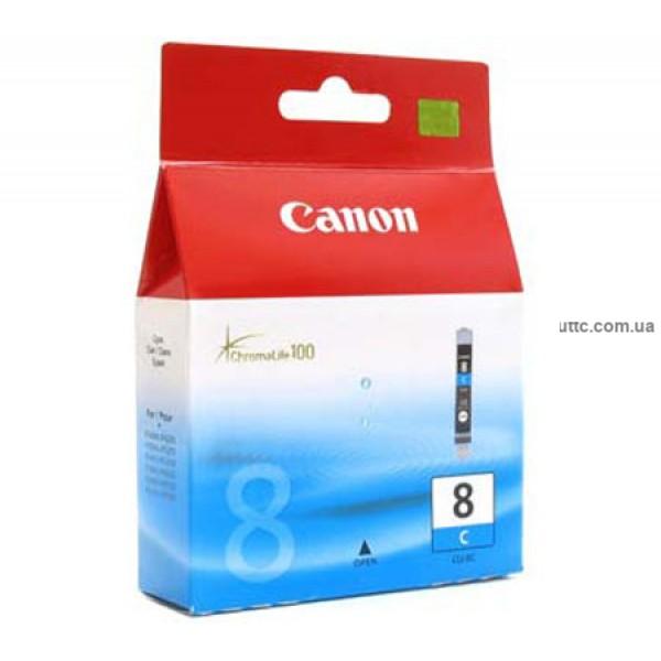 Картридж Canon CLI-8C, (0621B024), син.