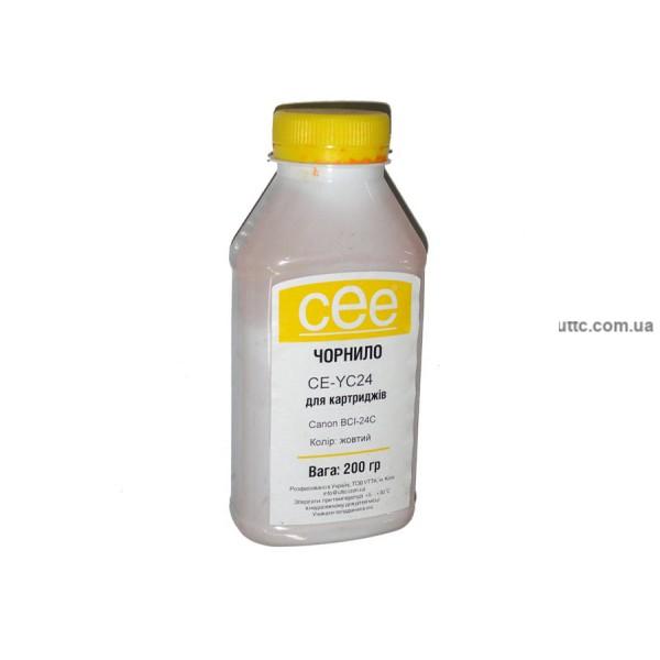 Чернила Canon BCI-24C, (CE-YC24), 200 г, yellow, CEE