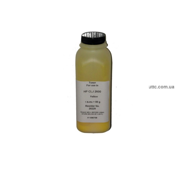 Тонер HP CLJ 1600/2600, флакон, 80г, желтый,, Kaleidochrome