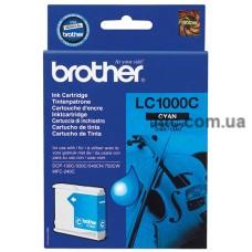 Картридж Brother DCP 130, (LC1000C), син.